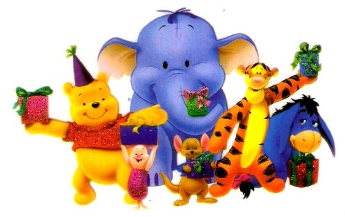 Pooh bear Piglet Heffalump elephant Roo baby