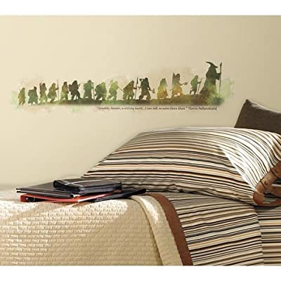York Wallcoverings RMK2161SCS RoomMates The Hobbit Quote Peel & Stick Wall Decal,