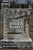 Need a Name?: Over 2600 Intriguing American Headstone Names from 1800-1930