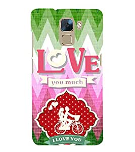 EPICCASE ride love Mobile Back Case Cover For Huawei Honor 7 (Designer Case)