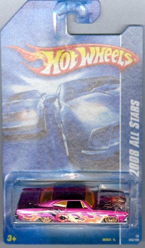 Hot Wheels 2008-058 '65 Chevy Impala All Stars Pink w/Flames 1:64 Scale - 1
