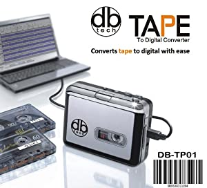 DB Tech Audio USB Portable Cassette Tape-to-MP3 Player Adapter with USB Cable and Software Cd Also Features Auto Reverse - FOR PC