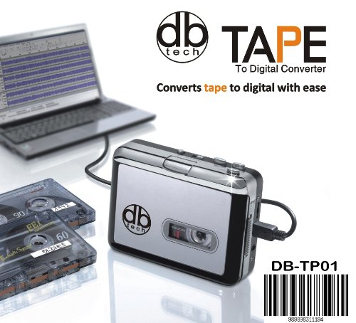 DB Tech Audio USB Portable Cassette Tape-to-MP3 