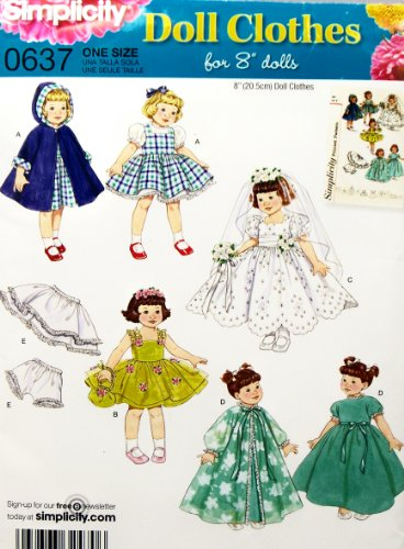 OOP Simplicity Pattern 0637 or 2775. Clothes for 8