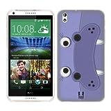 Head Case Designs Hippopotamus Animal Patches Soft Gel Back Case Cover for HTC Desire 816