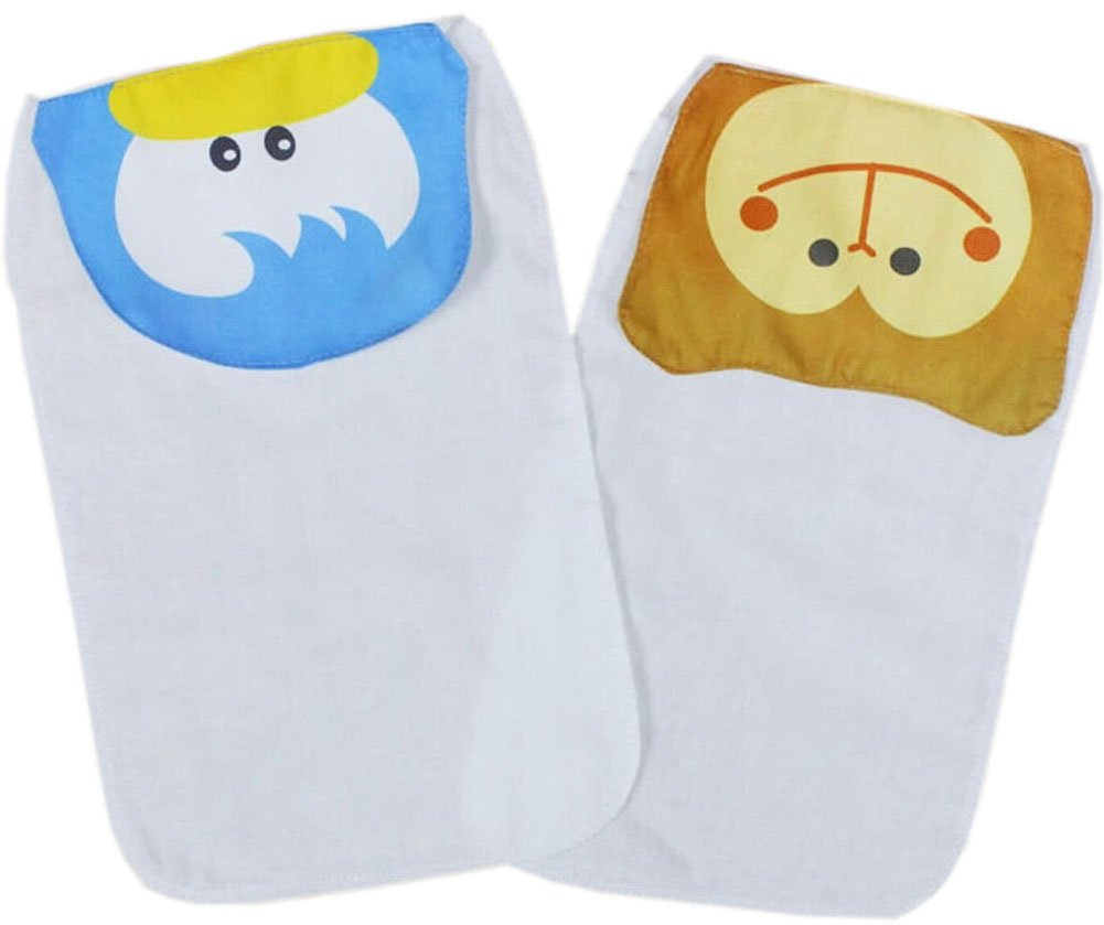 2 Cute Duck/Monkey Baby Cotton Gauze Towel Wipe Sweat Absorbent Cloth Mat Towel cute panda detail water absorption cotton towel black white