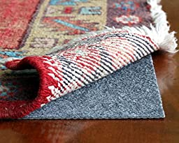 Rug Hold TM by Rug Pad Central, Runner & Area Rug Pad, Non-Slip Felt & Rubber, Non Skid Padding for Hardwood Floors & Hard Surfaces, Reversible for Rug on Carpet- Made in USA(4\' Round)