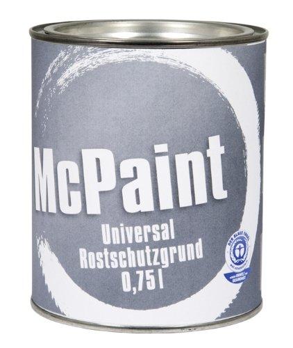 McPaint, Vernice antiruggine, colore: Grigio, 0,75 litri J122331A