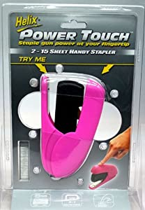 Helix Power Touch 2-15 Sheet Handy Stapler PINK