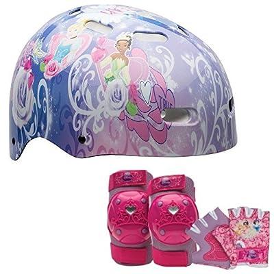 Disney Princess Girls Bike / Skate Helmet, Pads and Gloves - 7 Piece Set by Disney from Bell