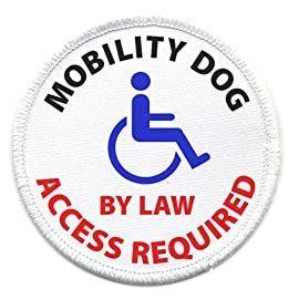 MOBILITY DOG ACCESS REQUIRED Medical Alert 3 inch Sew-on Patch
