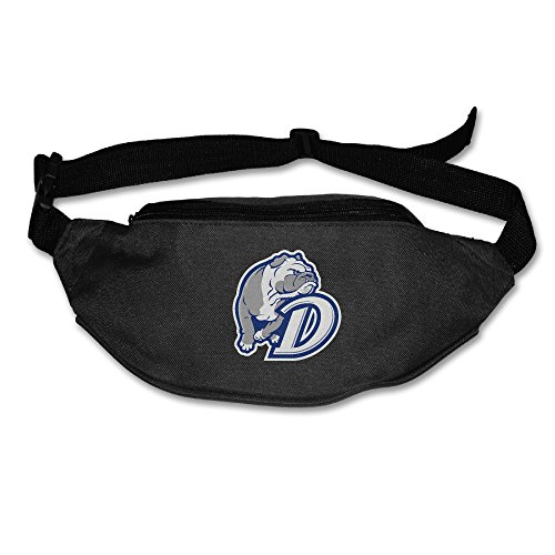 Casual Drake University Bulldog Waist Bag Outdoors Packs Unisex Black (Ga Bulldogs Belt compare prices)