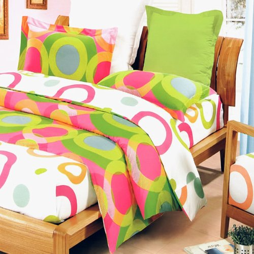 Blancho Bedding - Rhythm Of Colors Luxury 4Pc Mini Bed In A Bag Combo 300Gsm (Twin Size) front-4858