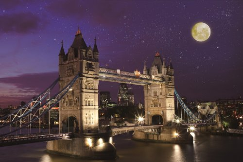 1000ピース めざせ!パズルの達人  タワーブリッジ夜景 -イギリス-(50x75cm)
