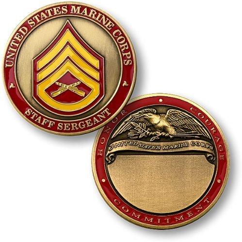 U.S. Marines Staff Sergeant Engravable Challenge Coin - 1