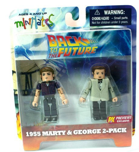 Back To The Future PX Previews Exclusive Minimates 2Pk Collectible Figures - 1955 Marty & George 2-Pack (Iron Man Action Figure )