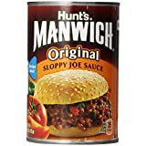 Hunt's Manwich Sloppy Joe Sauce, Original, 15 Oz