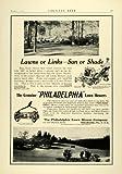 1924 Ad Philadelphia Riding Lawn Mowers Golf Course Lawn Maintenance Landscaping - Original Print Ad