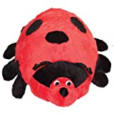 Patchwork Pet Pond Hoppers Ladybug 14-Inch Squeak Toy for Dogs