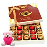 Chocholik Luxury Chocolates - Sweet & Tasty Wrapped Chocolates With Teddy