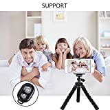 LSoug Universal Compact Tripod Stand - Remote Included - Flexible Octopus Cell Phone Camera Selfie Stick Tripod Mount for Smartphone / Digital Camera / GoPro Hero