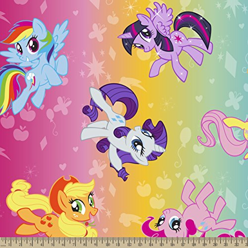 Springs Creative Products Group My Little Pony Ombre Toss Fleece Fabric by The Yard, 59/60-Inch - 1