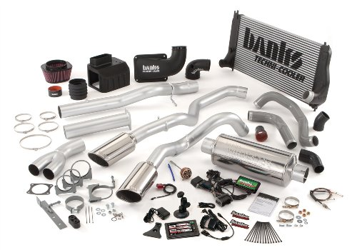 Banks Power 48964 PowerPack System; Performance System; Incl. EconoMind Tuner/Banks iQ/Banks Ram-Air Intake/Techni-Cooler Intercooler/Big Head Wastegate Actuator/Monster Exhaust; Single;