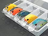 5 Hard Baits Fishing Lures in One Tackle Box Shallow Water Crankbait For Bass Fishing C429K