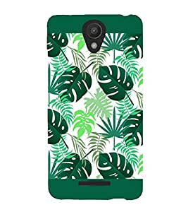 Fuson Premium Green Leaves Printed Hard Plastic Back Case Cover for Xiaomi Redmi Note 2