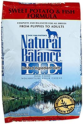 Dick Van Patten's Natural Balance Limited Ingredient Diets Sweet Potato and Fish Formula Dry Dog Food, 26-Pound Bag by Natural Balance