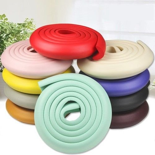 Wood Color Baby Kid Safety Table Corner Softener Edge Cushion Strip Guard Protector 2 Meter