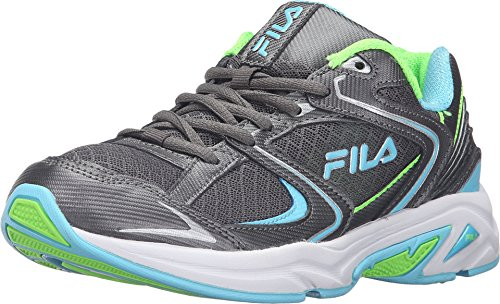 Fila Women's Thunderfire Dark Silver/Metallic Silver/Bluefish Sneaker 7 B (M)