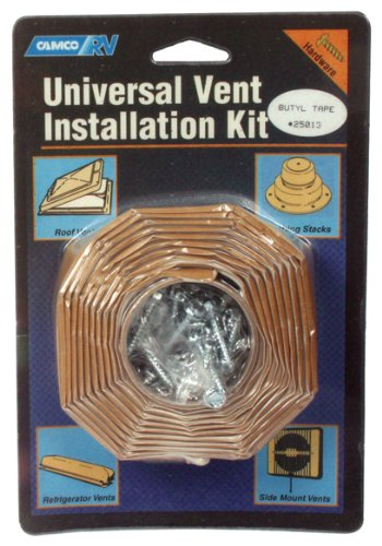 Camco 25013 RV Universal Vent Installation Kit with Butyl Tape