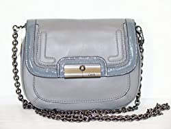 Authentic Coach Spectator Leather Crossbody Flap Chain Bag 46004 Greys