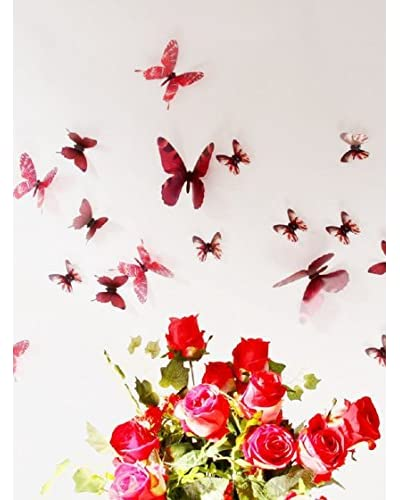 Ambiance Live Vinile Decorativo 18 pezzi 3D Adhesive Butterflies Chic translucid