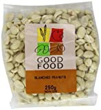 Mintons Good Food Pre-Packed Peanuts Blanched Large 250 g (Pack of 10)