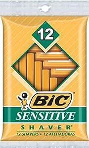 BIC Single Blade Shaver, Sensitive, 12-Count (Packs of 12)