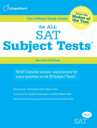 For All SAT Subject Tests: The Official Study Guide, 2nd Edition