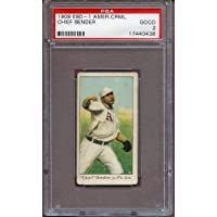 1909-11 E90-1 American Caramel Chief Bender A's PSA 2 GD 219167 Kit Young Cards