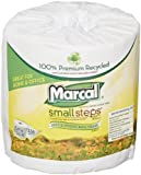 Marcal Small Steps 100% Premium Recycled 2-Ply Embossed Toilet Tissue, 48 Rolls/Carton (6079)