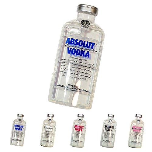 """ウォッカボトル型 iPhone ケース """"VODKA"""" iPhone6用 アイフォンカバー ウォッカ 酒瓶 (ブルー)"""