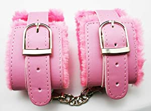 chuzhao wu pu pink faux fur handcuffs bedroom