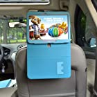Bayan Detachable Car Headrest Mount for 10.1-Inch Samsung Galaxy Tab 3--Blue Flip Stand Cover Case Edition