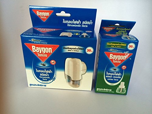 3 X Refillable Protector Raid Mosquito Baygon Electric Liquid Type (Mixed)