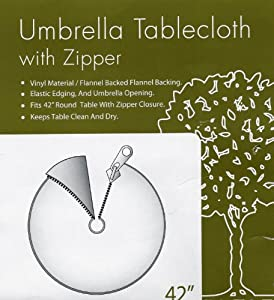 Amazon Com 42 Quot Umbrella Tablecloth W Zipper Flannel