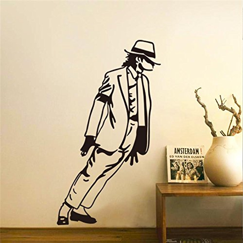 [UltaPlay(TM)King of Pop Michael Jackson wall stickers music fans room decorations 8328. vinyl home decals mural arts adesivos de paredes] (Michael Jackson Decorations)