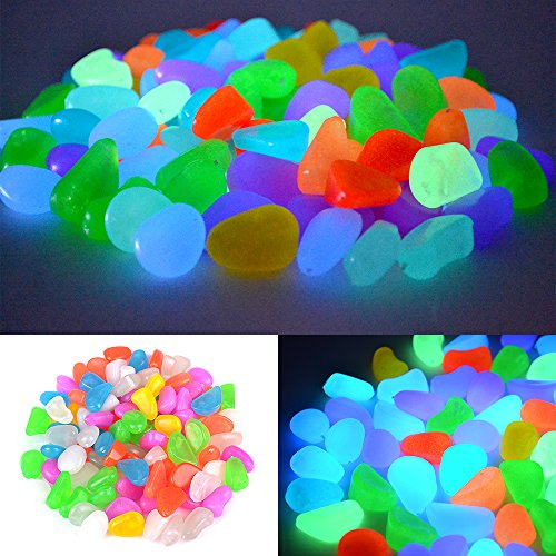 100x-Cailloux-Pierres-Galet-Lumineux-Glow-in-Dark-Pour-Jardin-Piscine-Cour-Sentier-Aquarium-Dcoration