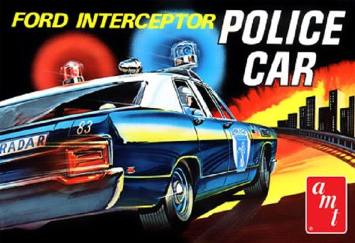AMT 1/25 '70 Ford Galaxie Interceptor Police Car (Amt Model Kits compare prices)