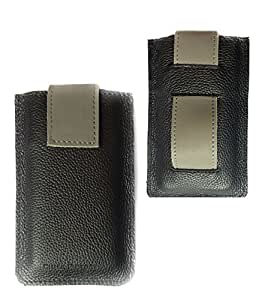 Chalk Factory Premium Genuine Leather with Belt Loop Holder Sleeve Cover Pouch Case for Apple iPhone 4 Mobile Phone