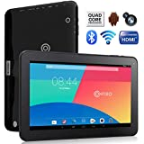 Contixo Q102 10.1 Inch Quad Core Google Android 4.4 KitKat Tablet PC, 1GB RAM, 16GB Nand Flash, Bluetooth, Dual Camera, HDMI, Google Play Pre-installed, 3D Game Supported, 2015 Newest BLACK Model